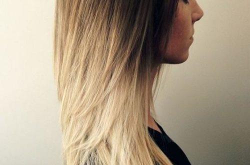 Окрашивание балаяж для длинных волос