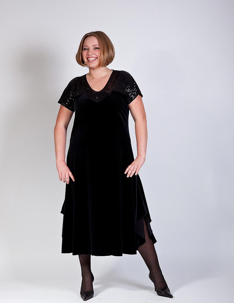 Велюровые платья фото для полных