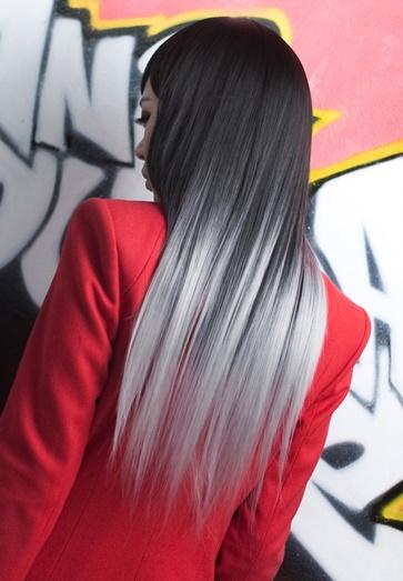 Белые кончики волос