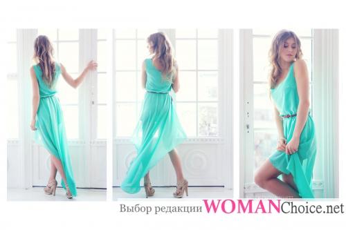 Греческое платье со шлейфом