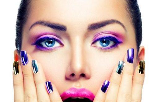 Тени для век фиолетового цвета