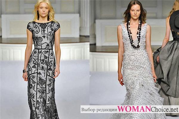 Длинные гипюровые платья
