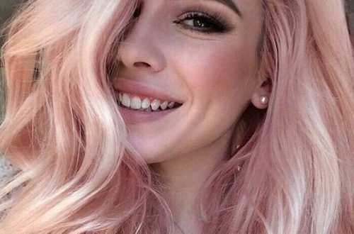 Блонд клубничного оттенка