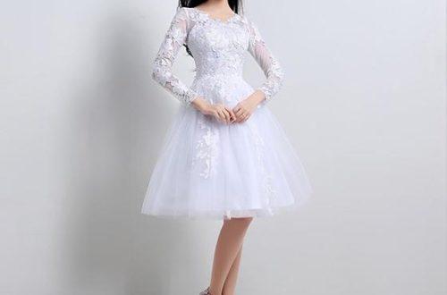 Фото коротких свадебных платьев