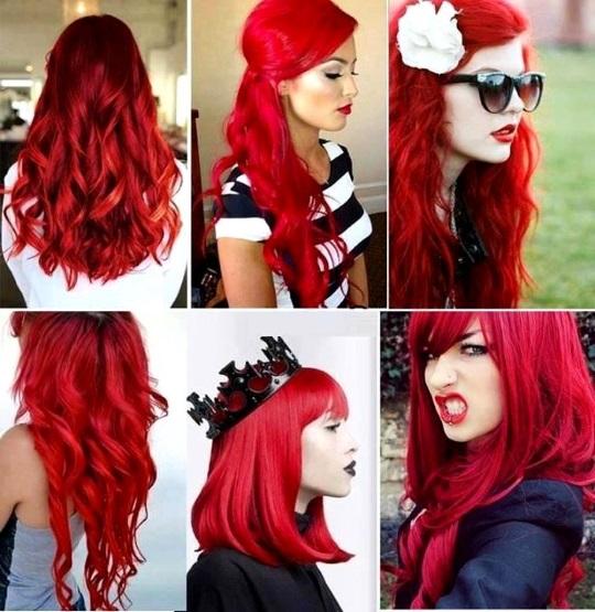 Волосы красных оттенков