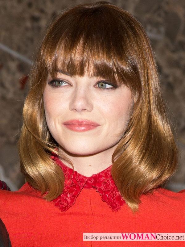 Эмма Стоун с макияжем для зеленых глаз