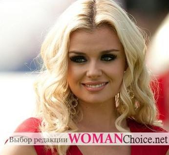 Блондинка с круглым лицом