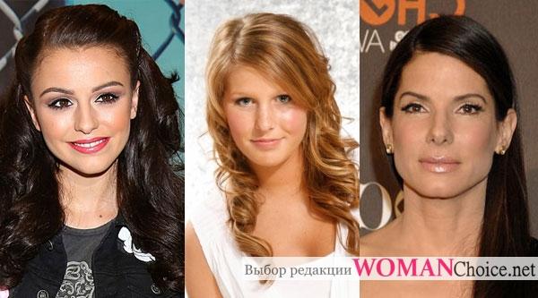 Примеры макияжа девушек с круглым лицом