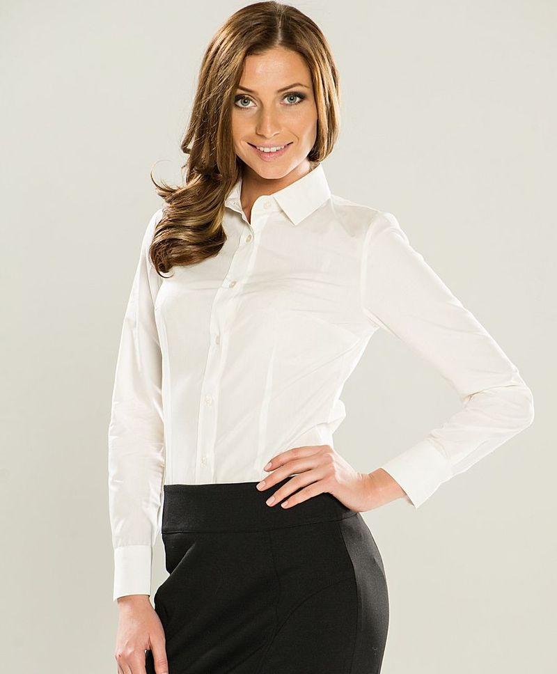 белые строгие блузки фото
