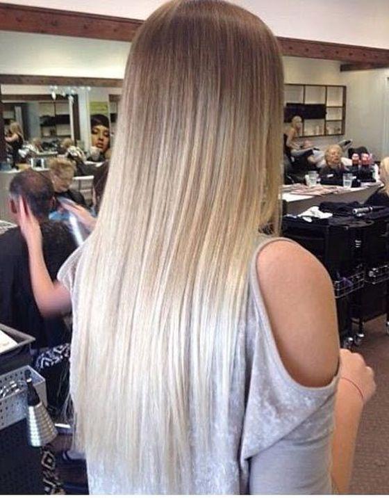 Русые волосы темные концы