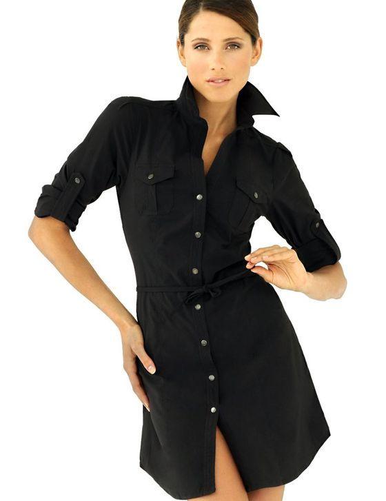 Черное платье рубашка