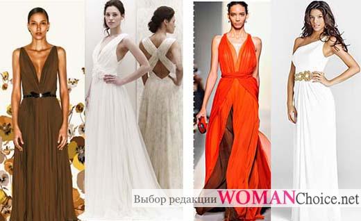 Виды платьев в греческом стиле