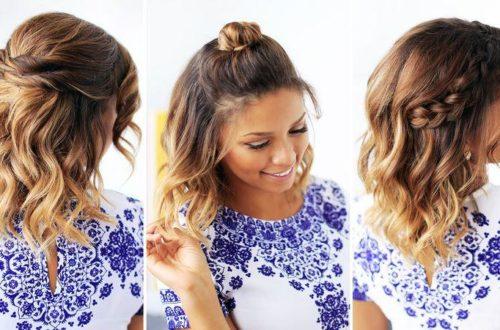 Простые прически для коротких волос