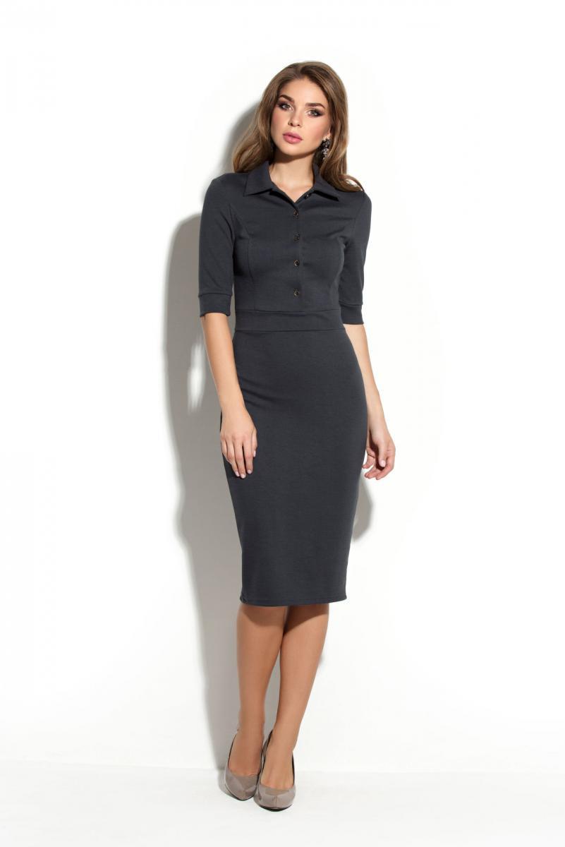 5da4524413edfc6 Серое платье 2019 - 102 фото модных платьев серого цвета | Портал ...
