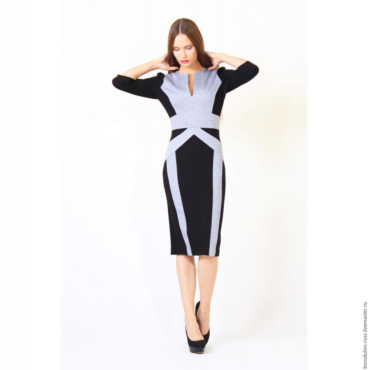 9f8751d9d36d57d Вариантов оформления наряда – великое множество. Это может быть двухцветный  ансамбль, а может быть – изящное легкое платье с черным рисунком или  принтом.