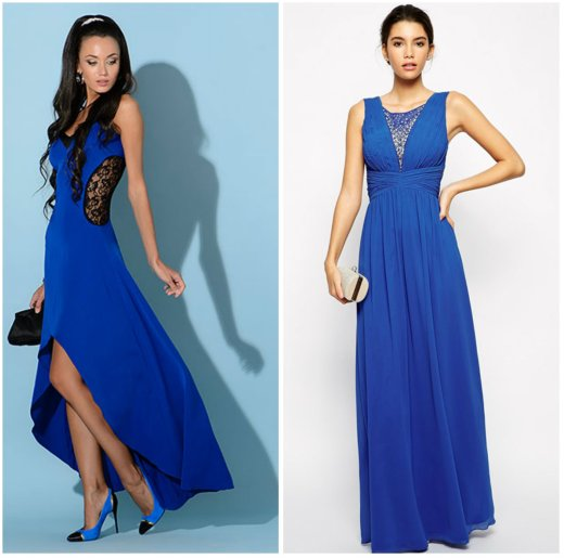 487a672711d1eda Ярко-синее платье для зажигательной вечеринки будет смотреться неотразимо с  босоножками черного цвета, широким поясом и лакированным клатчем.