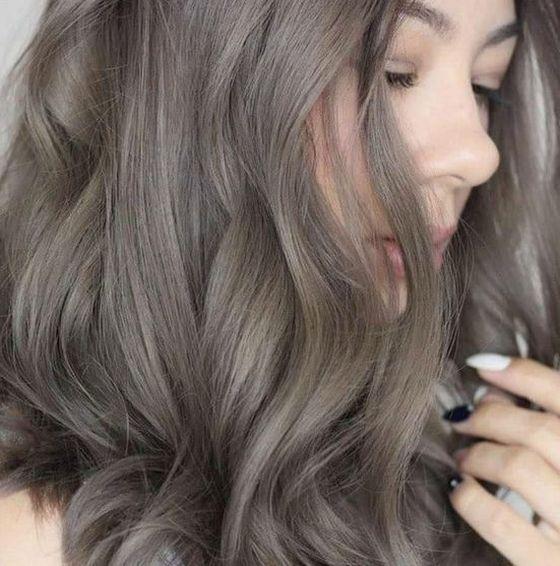 Темно-пепельные волосы