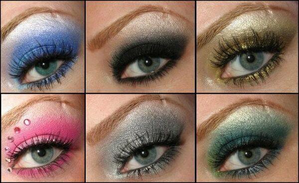 Варианты макияжа глаз зеленоватого оттенка