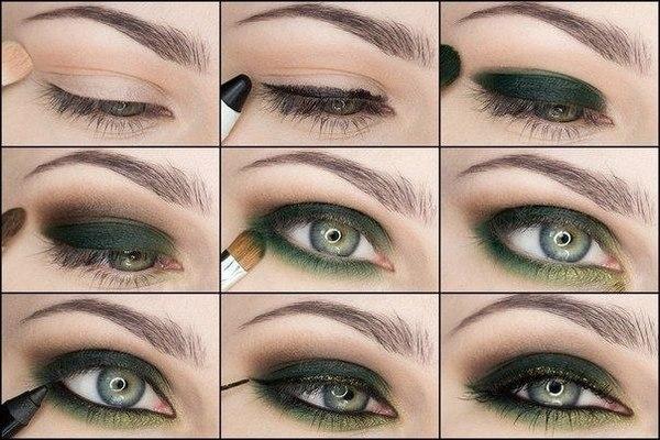 Темно-зеленые тени