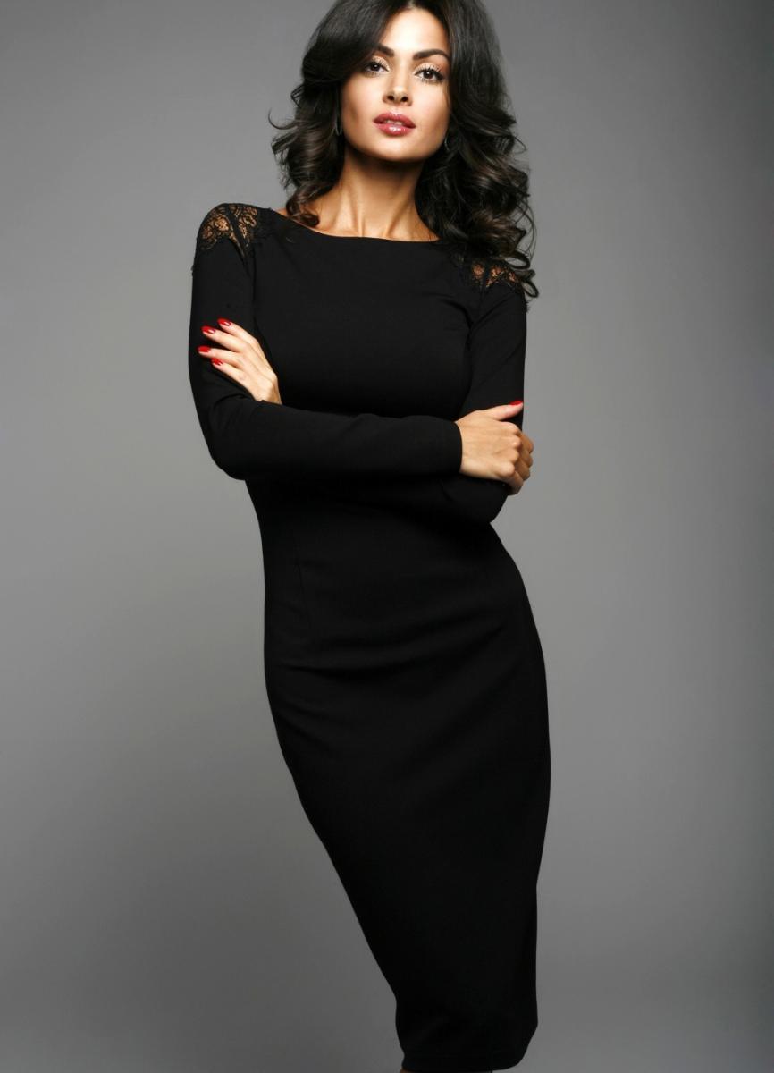 trikotazh_platie71 Трикотажное платье-футляр – вещь на каждый день