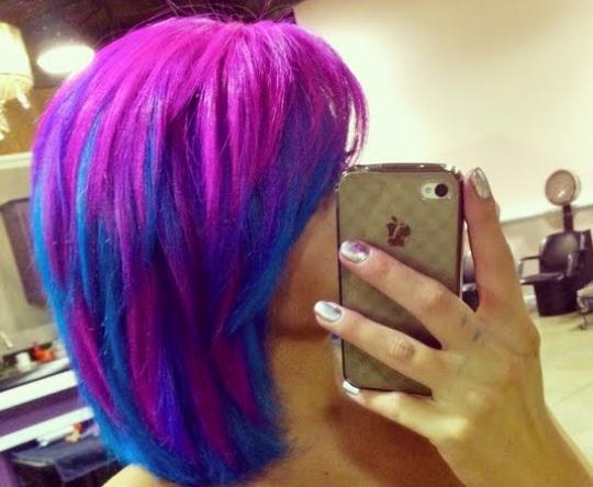 Розово-фиолетовые волосы
