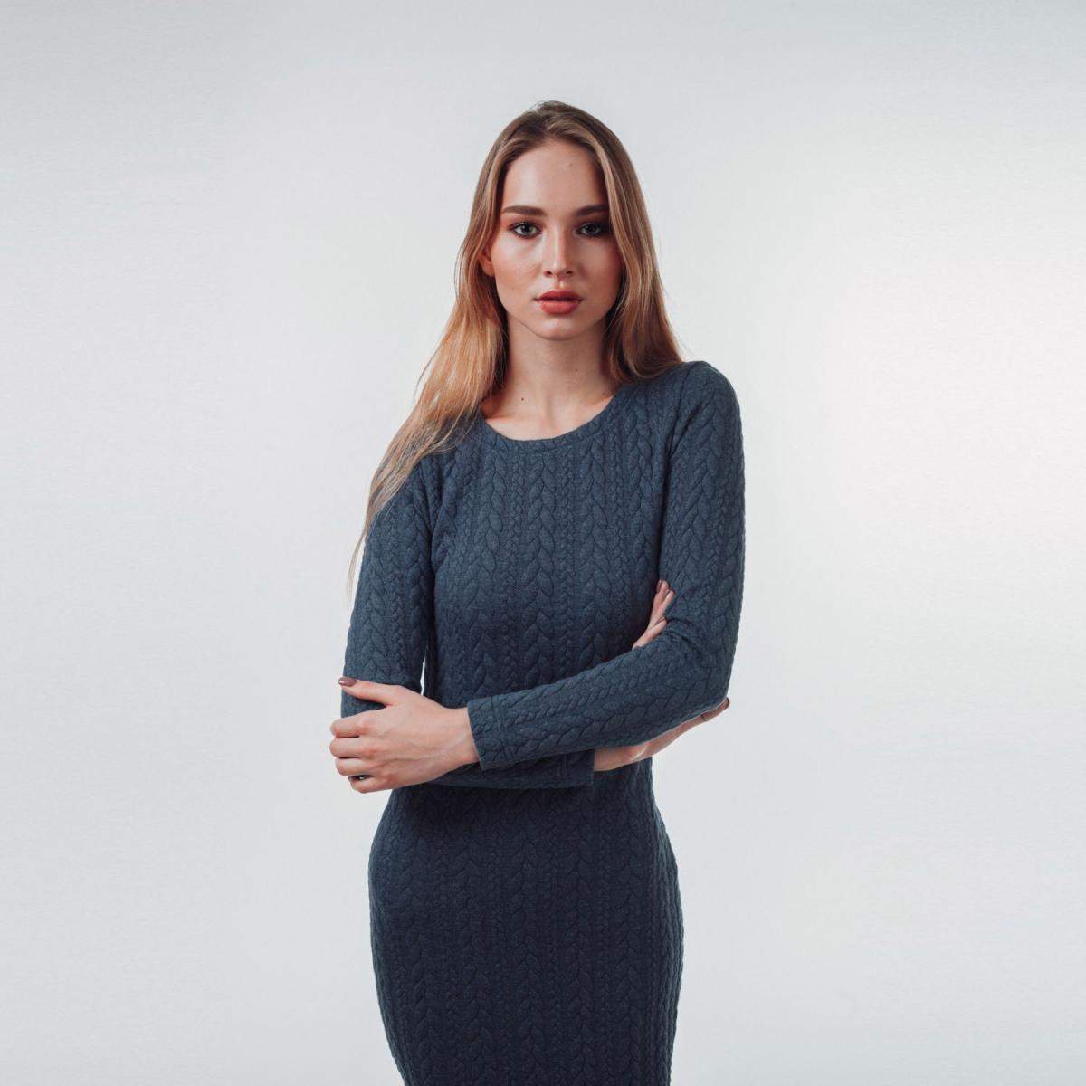 zimnee_platye79 Модные трикотажные платья: 100 стильных идей, фасонов и трендов